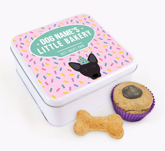 'Little Bakery' Square Treat Tin with Cojack Icon