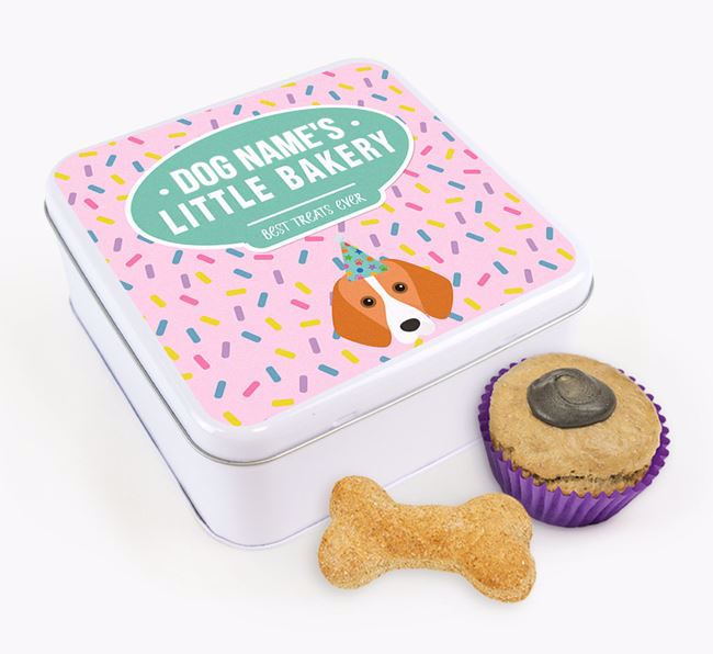 'Little Bakery' Square Treat Tin with Foxhound Icon