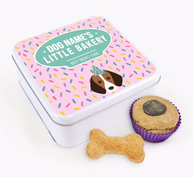 'Little Bakery' Square Treat Tin with Harrier Icon