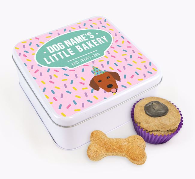 'Little Bakery' Square Treat Tin with Springador Icon