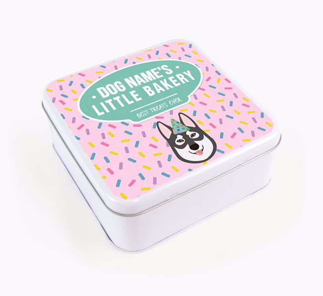 'Little Bakery' Square Treat Tin with Tamaskan Icon