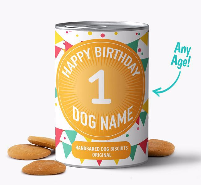 Personalised 'Happy Birthday' with age Baked Dog Biscuits