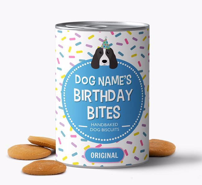 Personalised 'Birthday Bites' Baked Dog Biscuits