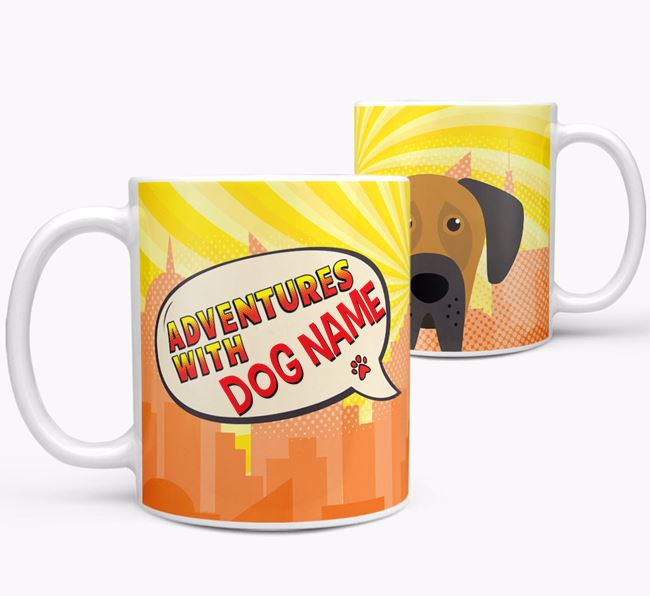 'Adventure with Your Dog' Mug with Dog Icon