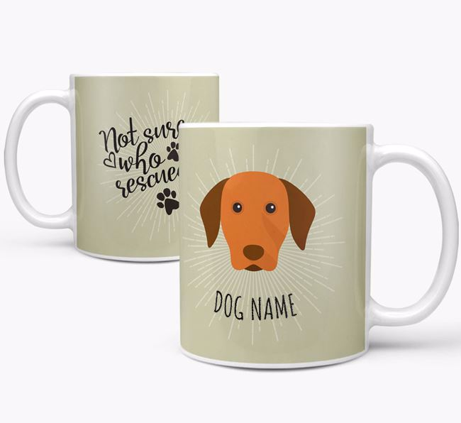 Personalised 'Who rescued whom' Mug with Dog Icon