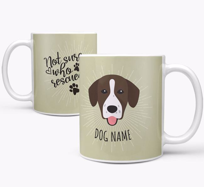 Personalised 'Who rescued whom' Mug with Springador Icon
