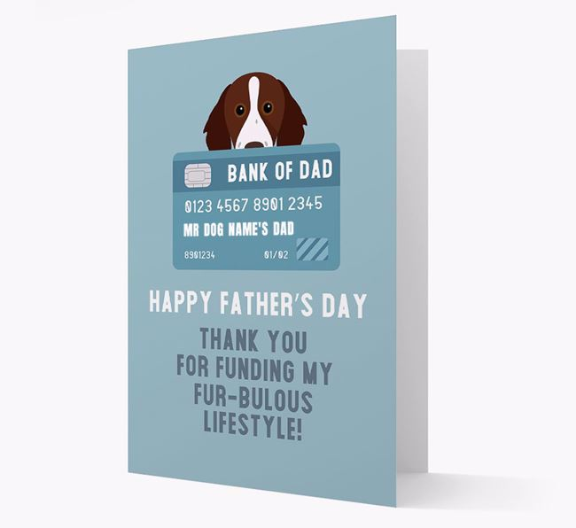 Personalised 'Bank of Dad' Card with Brittany Icon