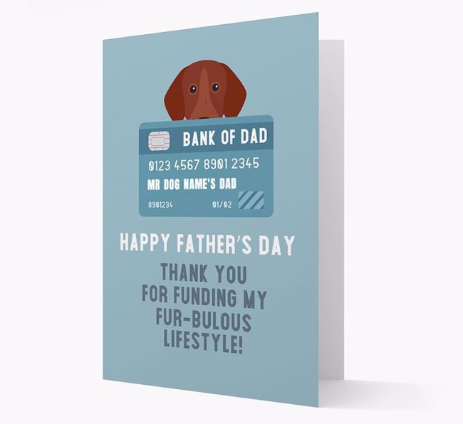 Personalized 'Bank of Dad' Card with German Shorthaired Pointer Icon