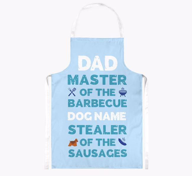 'Master of the Barbecue' Apron with American Cocker Spaniel Icon