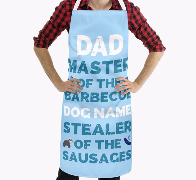 'Master of the Barbecue' Apron with Bearded Collie Icon
