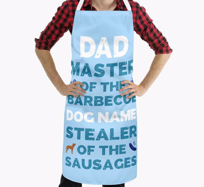 'Master of the Barbecue' Apron with Blue Lacy Icon