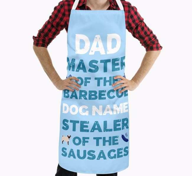 'Master of the Barbecue' Apron with Pug Icon
