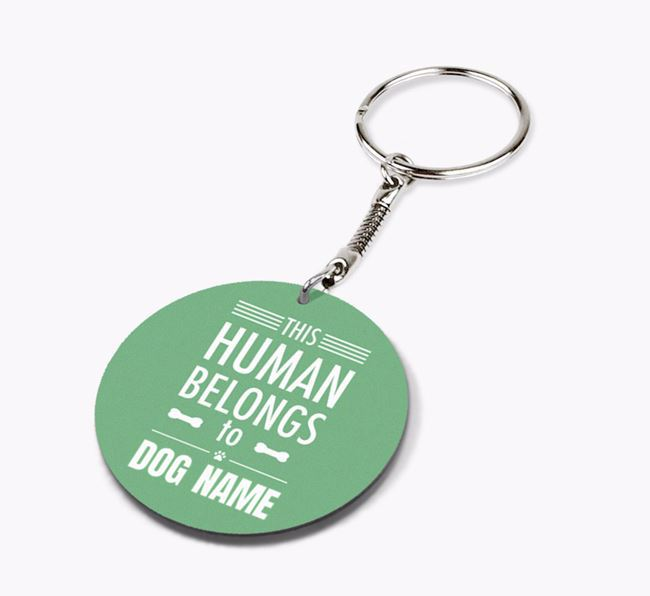Double-sided 'This human belongs to Your Dog' Keyring