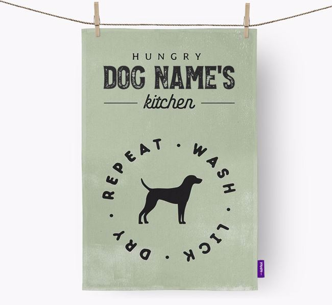 Personalized 'Hungry Your Dog's Kitchen' Dish Towel