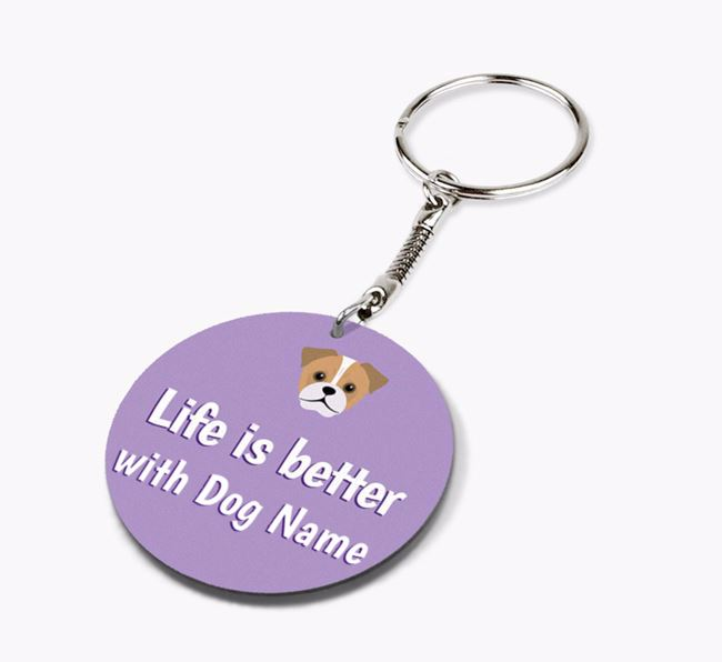 Personalised Double-sided 'Better with' Keyring
