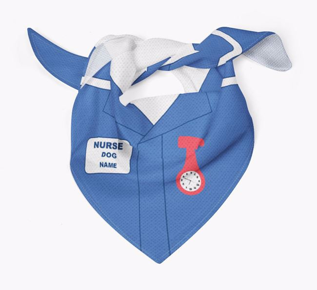 Personalised 'Nurse' Bandana for your Bedlington Terrier