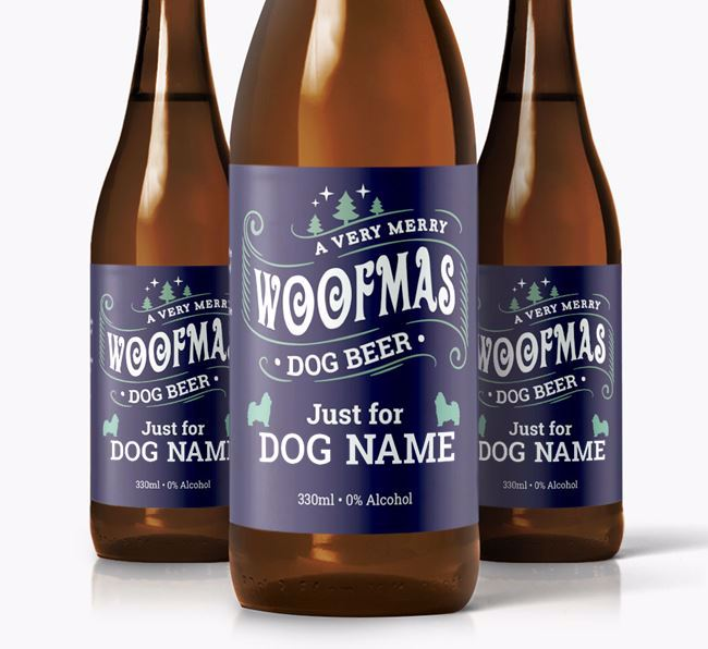 Personalised 'Merry Woofmas Your Dog' Dog Beer