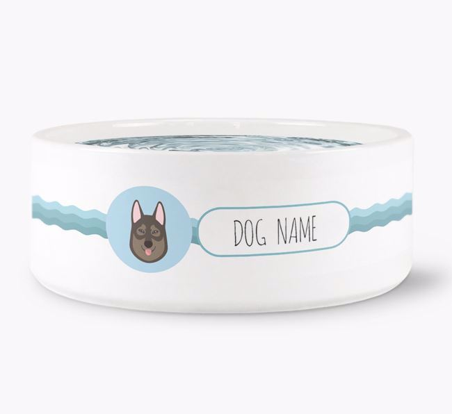 Personalised Wave Water Bowl for Your Dog