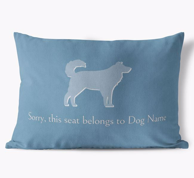 'Sorry, this seat belongs to Your Dog' Cushion