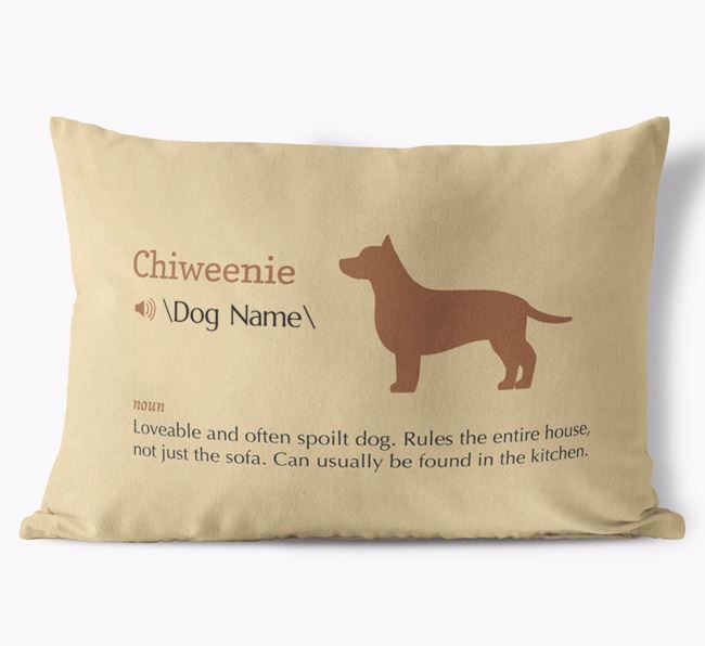 Personalised Chiweenie Definition Faux Suede Cushion