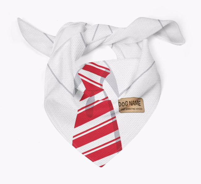 Personalised 'Chief Barketing Officer' Bandana for your Irish Red & White Setter