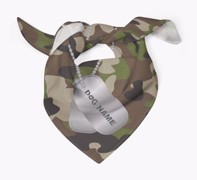 Personalized Camo Pattern Bandana for your Lurcher