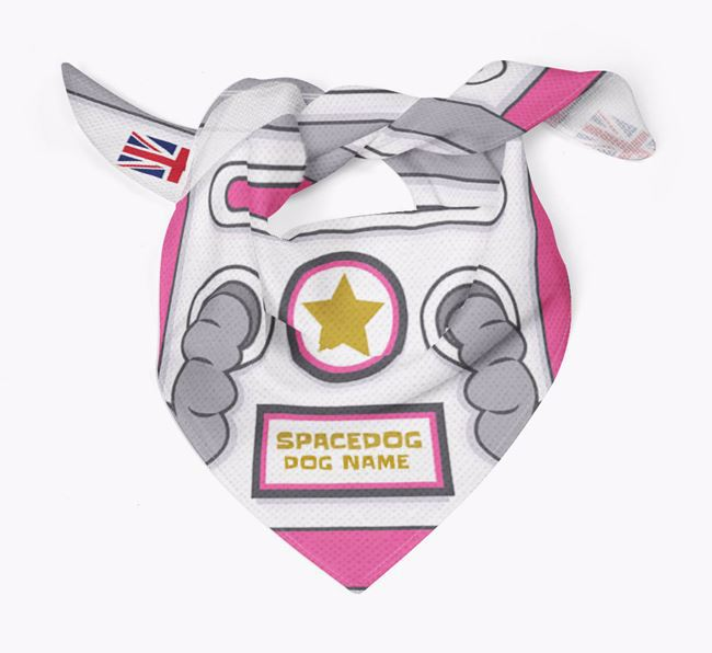 Space Dog Bandana for your French Pin