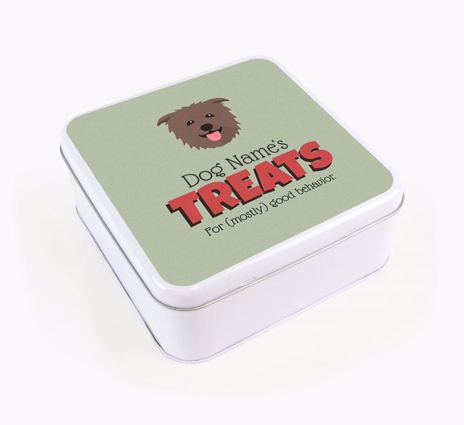 Personalised Retro Design Square Tin for your Glen Of Imaal Terrier