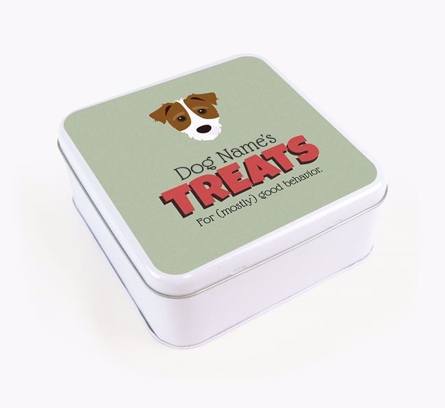 Personalised Retro Design Square Tin for your Jack-A-Poo