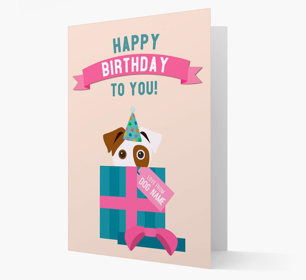 Personalized 'Happy Birthday to you! Love {dogsName}' Card