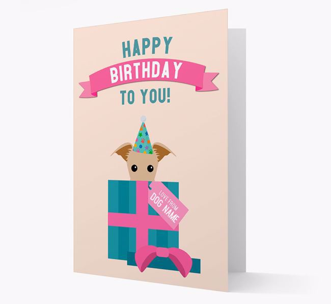 Personalized 'Happy Birthday to you! Love Your Dog' Card