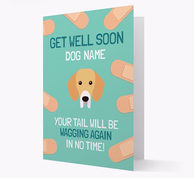 Personalised 'Get well soon Your Dog' Card with Bassador Icon
