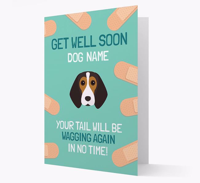 Personalised 'Get well soon Your Dog' Card with Beagle Icon