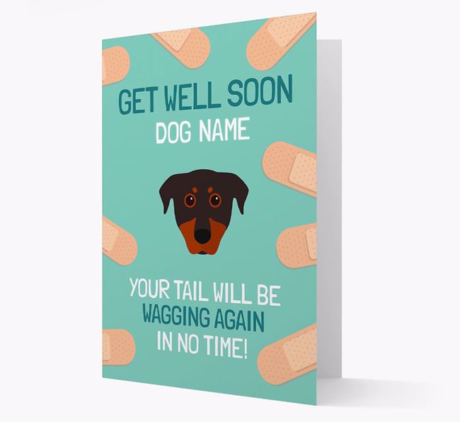 Personalized 'Get well soon Your Dog' Card with Beauceron Icon