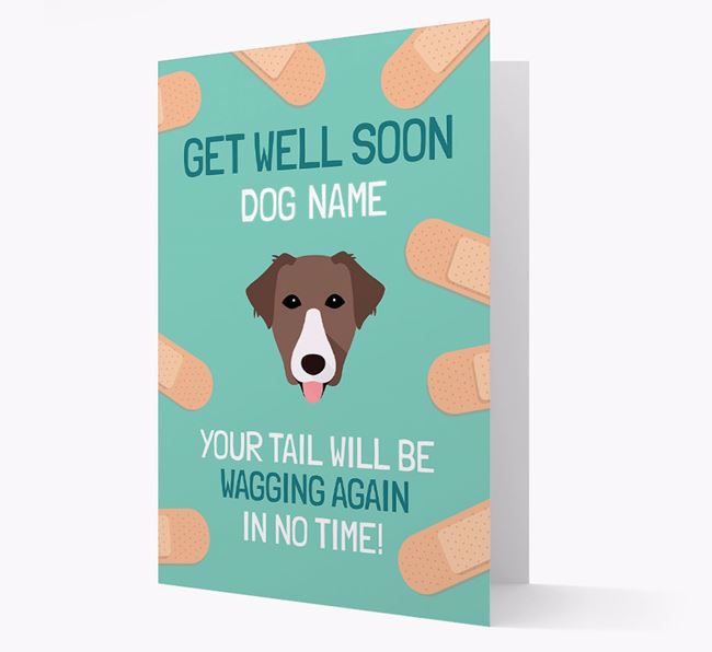 Personalized 'Get well soon Your Dog' Card with Borador Icon