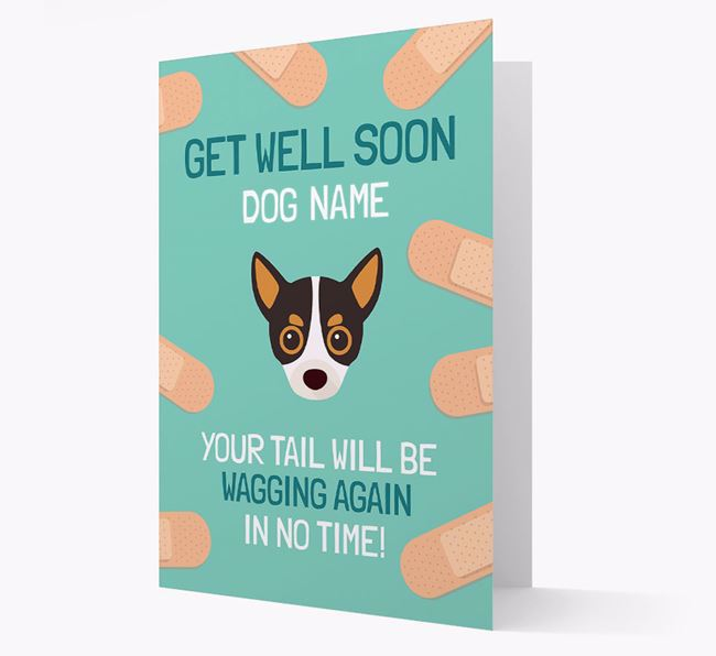 Personalized 'Get well soon Your Dog' Card with Chihuahua Icon