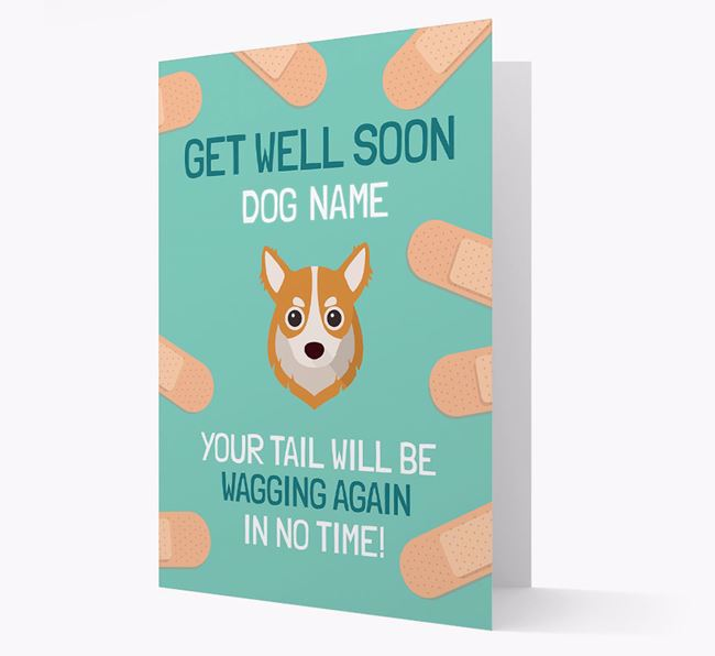 Personalised 'Get well soon Your Dog' Card with Chihuahua Icon