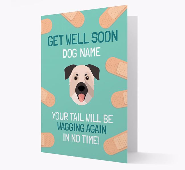 Personalized 'Get well soon Your Dog' Card with Chinook Icon