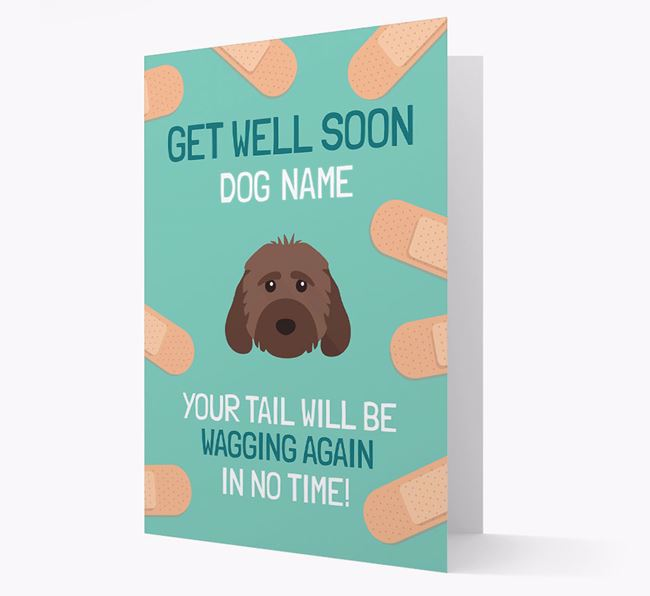 Personalized 'Get well soon Your Dog' Card with Cockapoo Icon