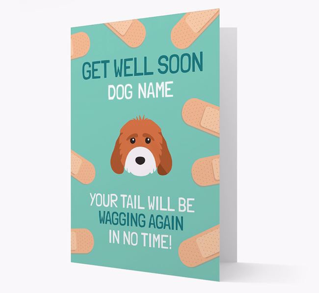 Personalised 'Get well soon Your Dog' Card with Cockapoo Icon