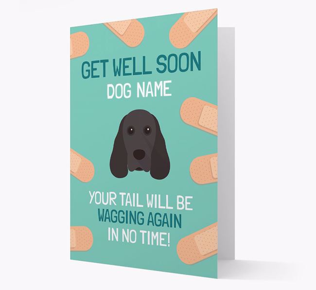 Personalized 'Get well soon Your Dog' Card with Cocker Spaniel Icon