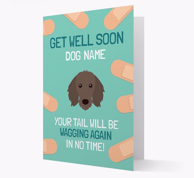 Personalised 'Get well soon Your Dog' Card with Dachshund Icon