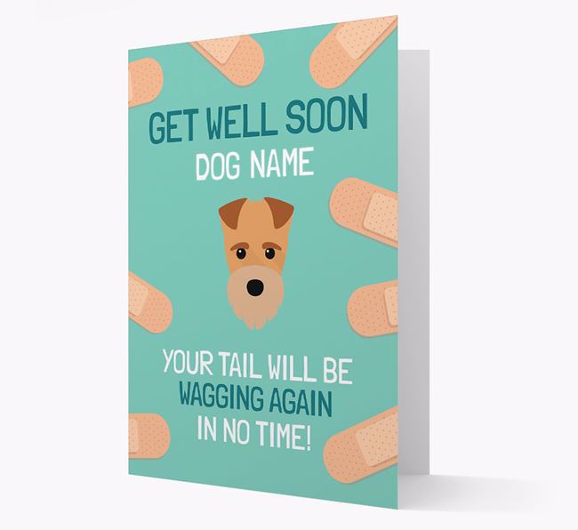 Personalized 'Get well soon Your Dog' Card with Fox Terrier Icon