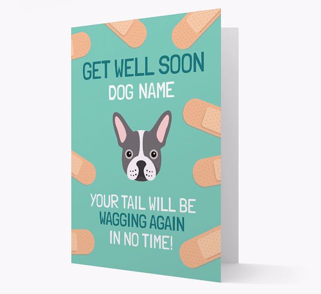 Personalised 'Get well soon Your Dog' Card with French Bulldog Icon