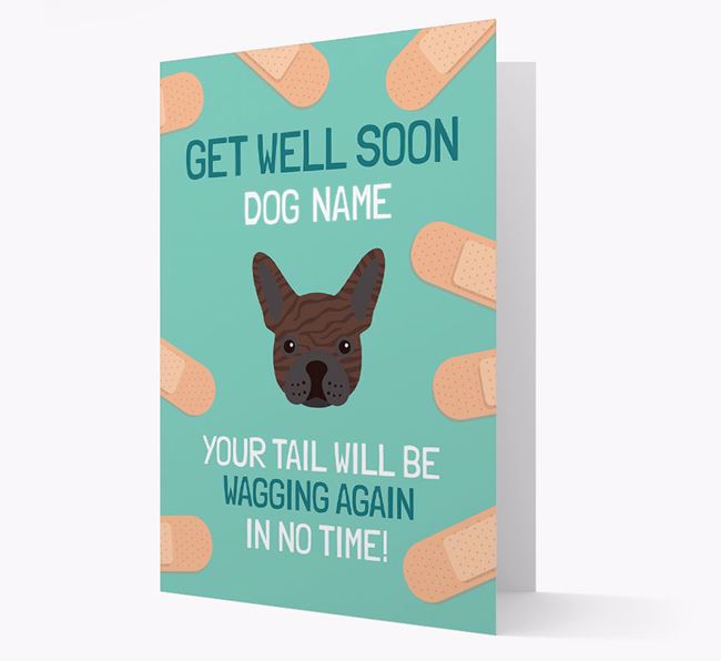 Personalized 'Get well soon Your Dog' Card with French Bulldog Icon