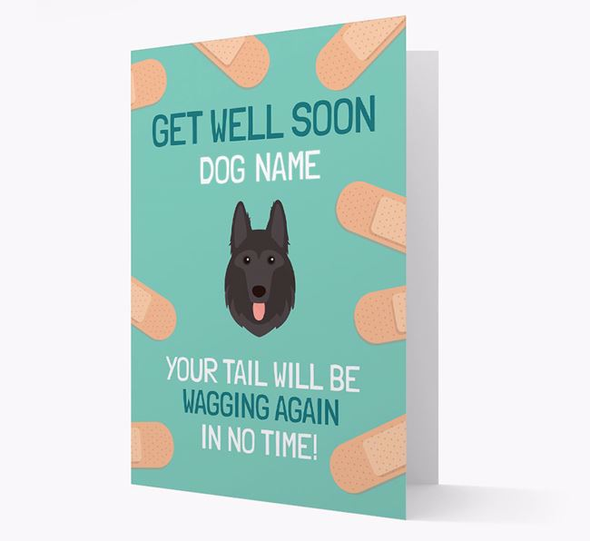 Personalized 'Get well soon Your Dog' Card with German Shepherd Icon