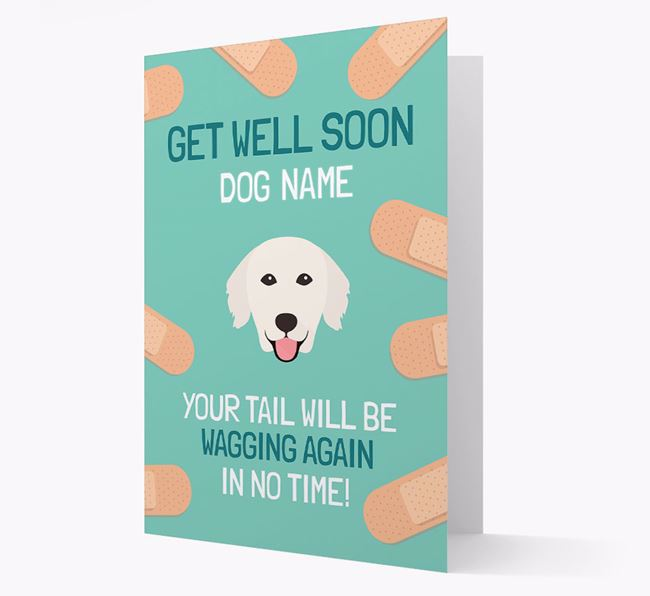 Personalised 'Get well soon Your Dog' Card with Golden Retriever Icon