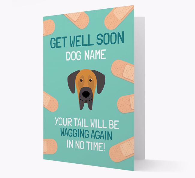 Personalised 'Get well soon Your Dog' Card with Dog Icon