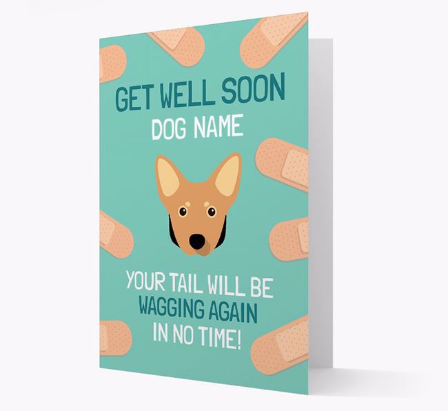 Personalized 'Get well soon Your Dog' Card with Lancashire Heeler Icon