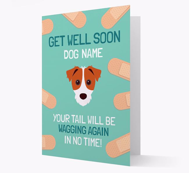 Personalized 'Get well soon Your Dog' Card with Parson Russell Terrier Icon